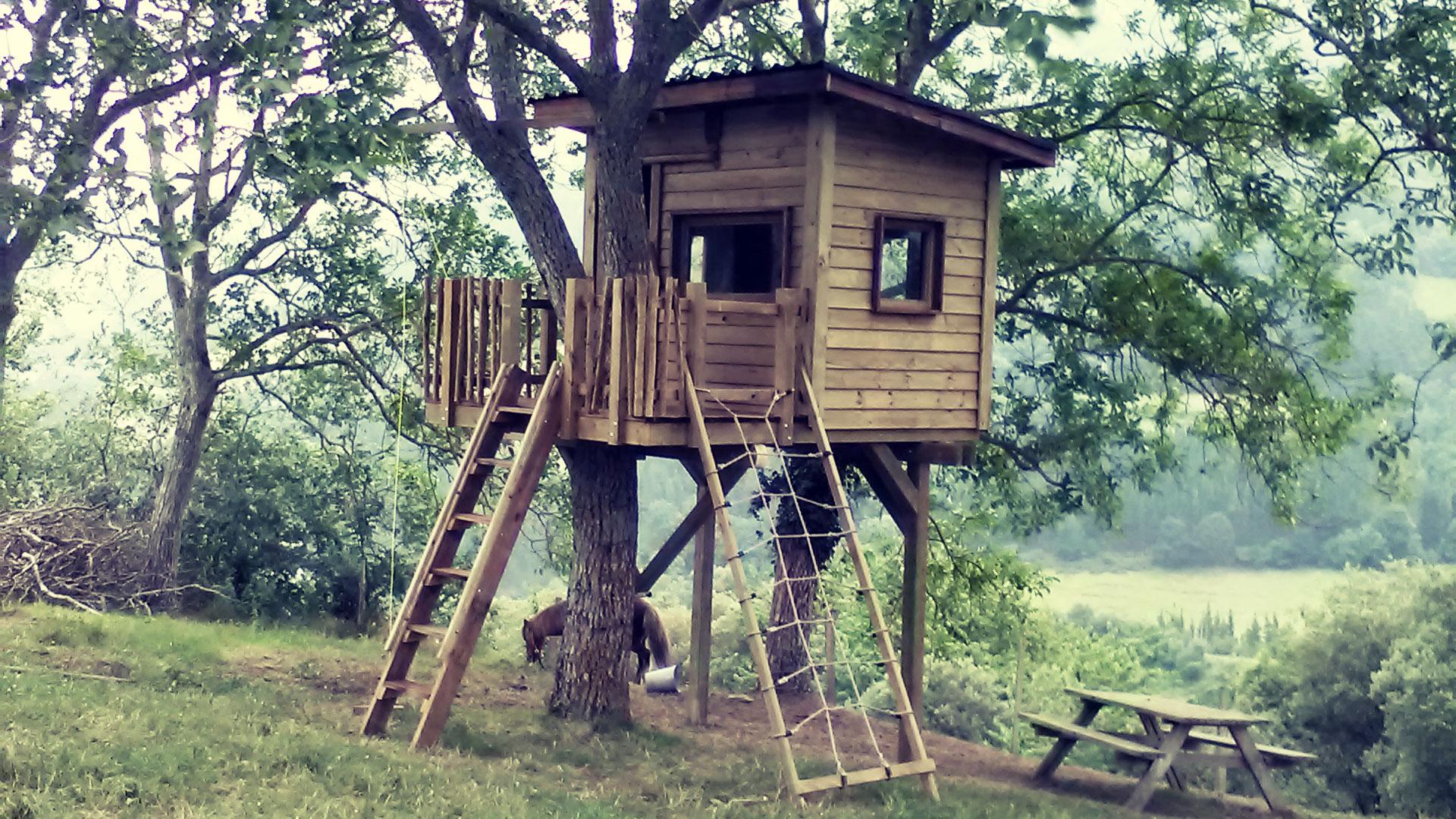 Caba a en el rbol en ataun gipuzkoa fun houses - Casas de arbol ...